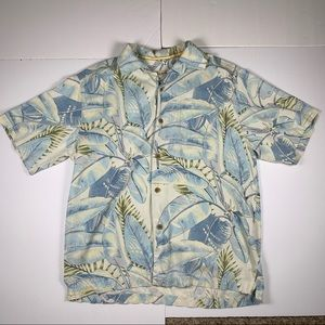 Tommy Bahama 100% Silk Button Up Shirt Mens M